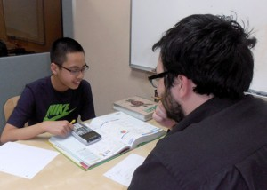 Student working with an Academic Success Tutor.